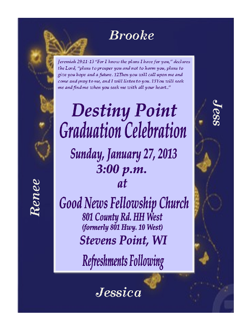 Graduation Invitation with names2013b