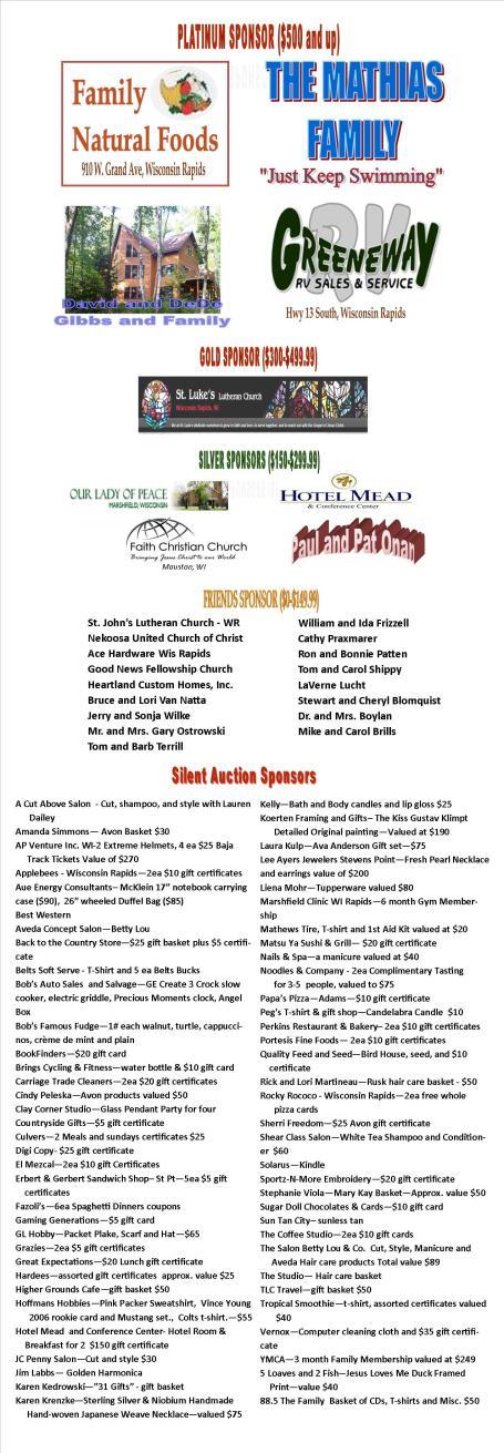 Banquet Sponsors 2012 Longer1
