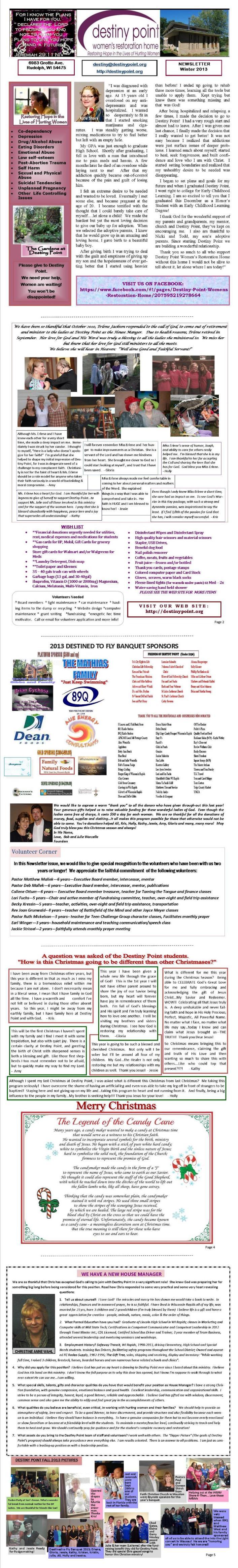 newsletter Winter 2013 Email sizeLarge