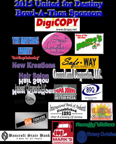 2015 Bowl-s-thon sponsors