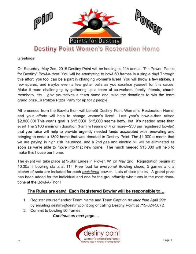 Bowler's Information_letter, 2015 pg 1