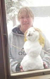 Kris K. and snowman Murtle